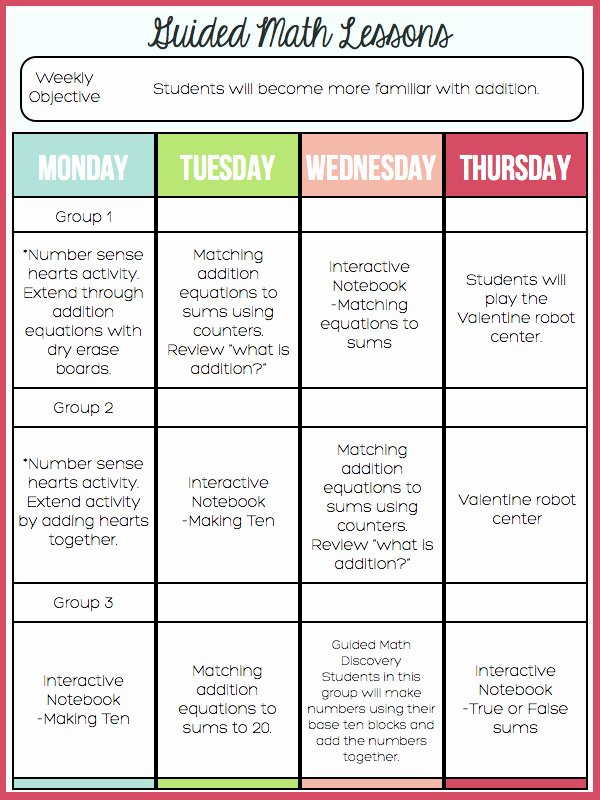 Math Lesson Plan Template Lovely A Day In First Grade