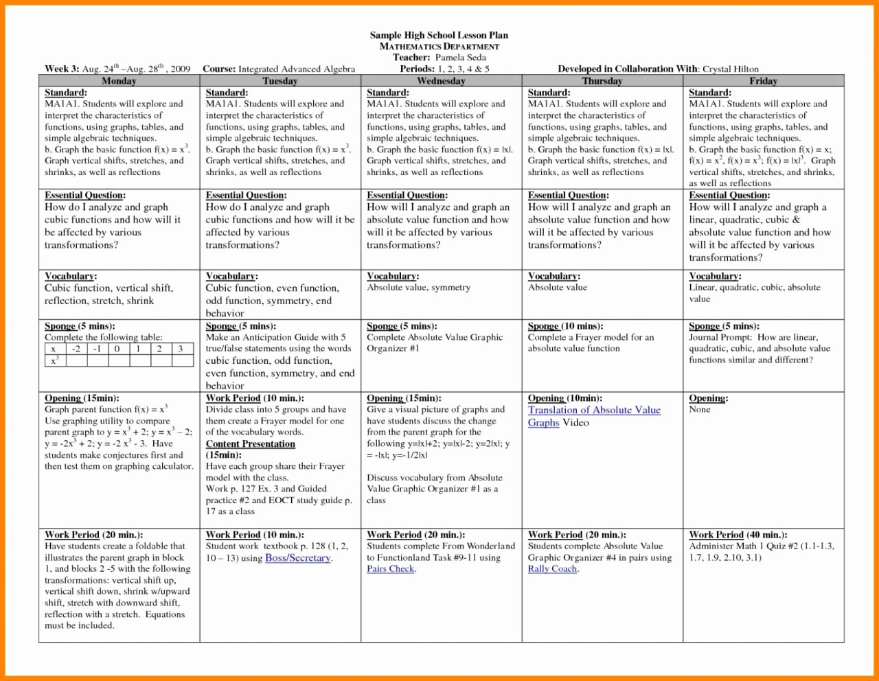 Math Lesson Plan Template New Vertical Lesson Plan Template – the 5e Lesson Plan is An