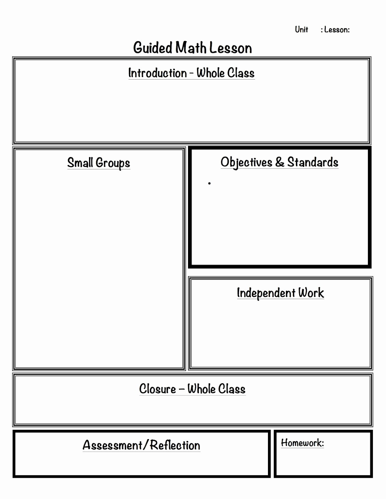 Math Workshop Lesson Plan Template Elegant Its You Its Always and Guided Math On Pinterest