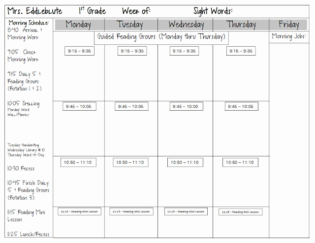 Math Workshop Lesson Plan Template Elegant Spotted In First Grade Monday Made It Lesson Plan Template