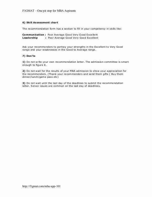 Mba Letter Of Recommendation Sample Lovely Mba Re Mendation Letter Tips
