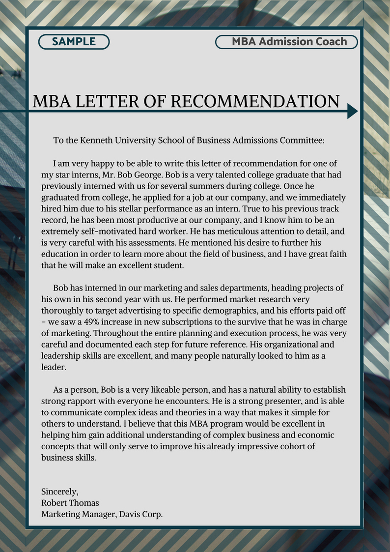 Mba Letter Of Recommendation Unique Most Effective Mba Essay Examples
