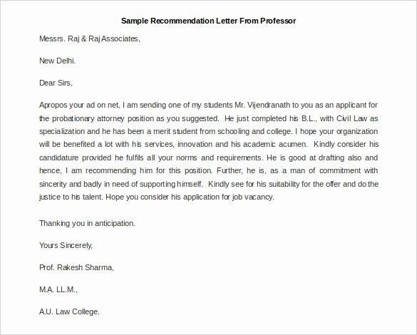 Mba Recommendation Letter Examples Lovely 30 Re Mendation Letter Templates Pdf Doc