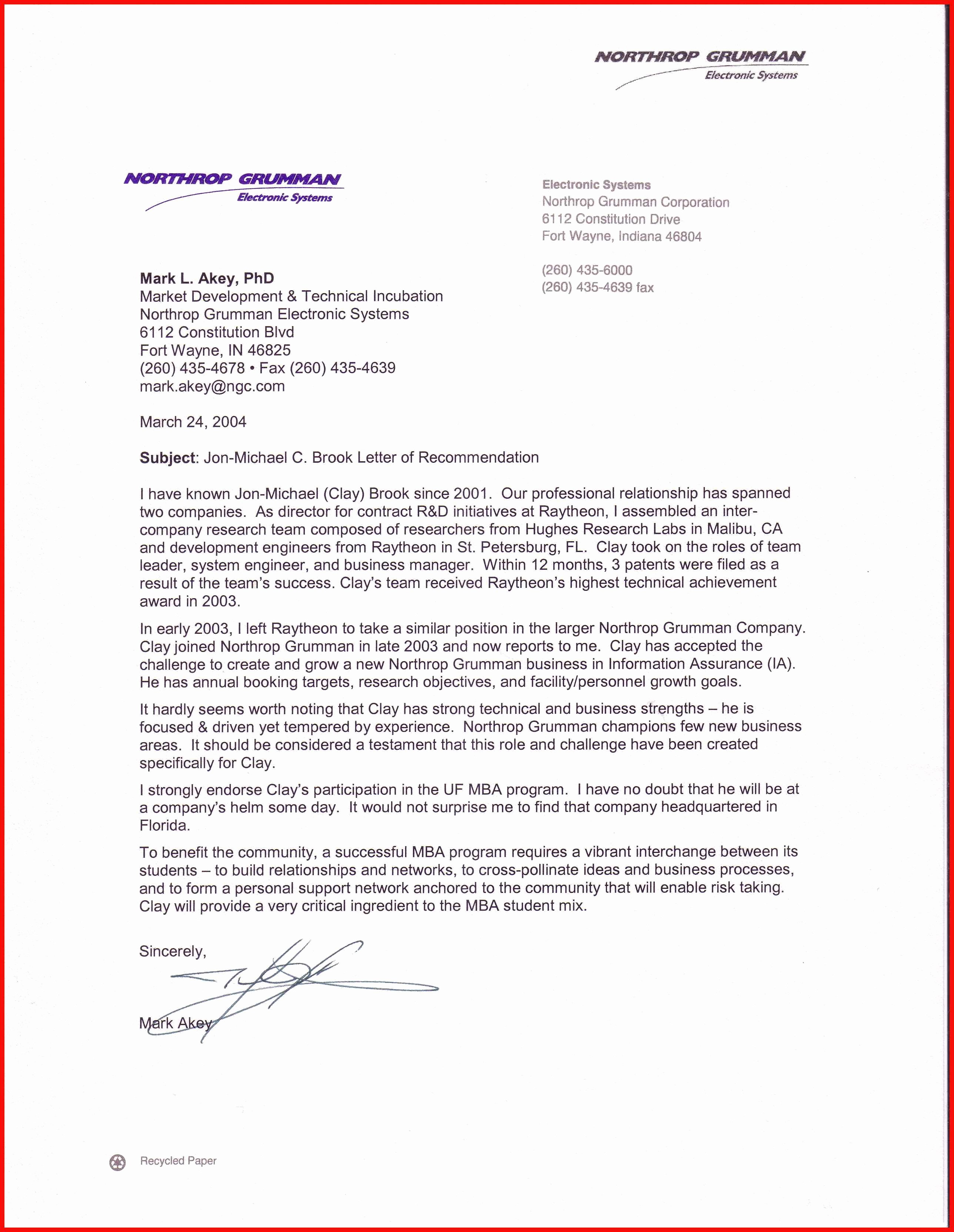 Mba Recommendation Letter Tips Beautiful Mba Re Mendation Letter