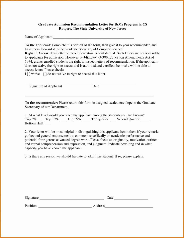 Mba Recommendation Letter Tips Inspirational Admission Re Mendation Letter Examples Sample Bar