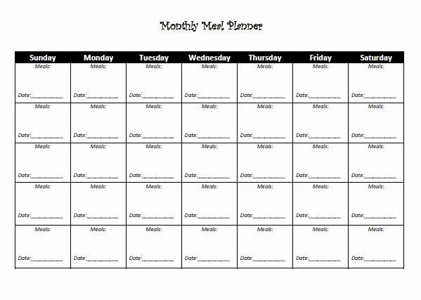 Meal Plan Calendar Template Fresh Best 25 Monthly Meal Planner Ideas On Pinterest