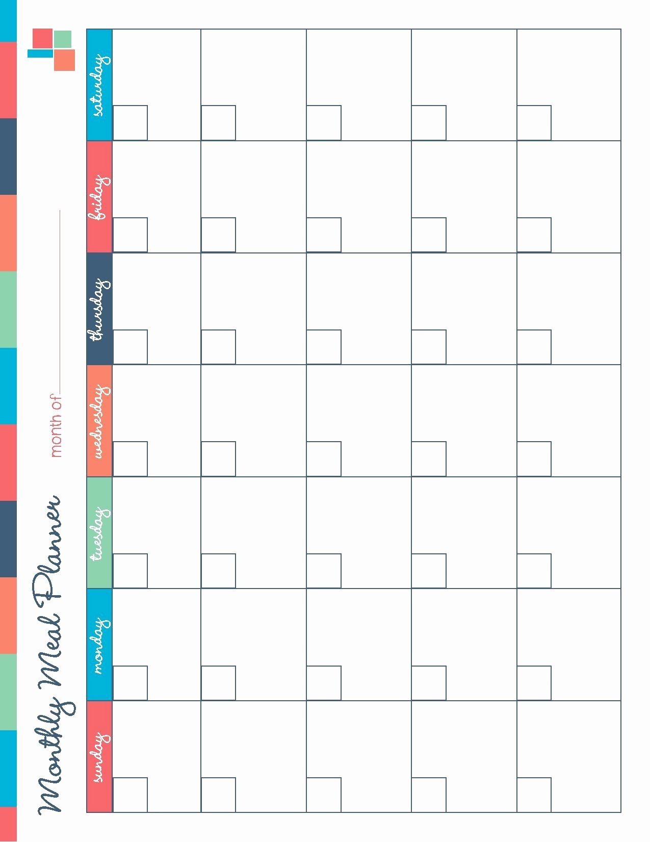 Meal Plan Calendar Template Fresh Free Printable Meal Planner Kitchen Set Recipes