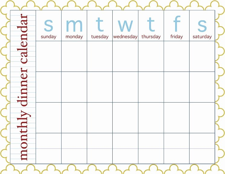 Meal Plan Calendar Template Luxury 28 Useful Printable Monthly Meal Planners