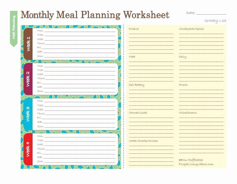 Meal Plan Calendar Template Unique Printable Lesson Plan Template Free to