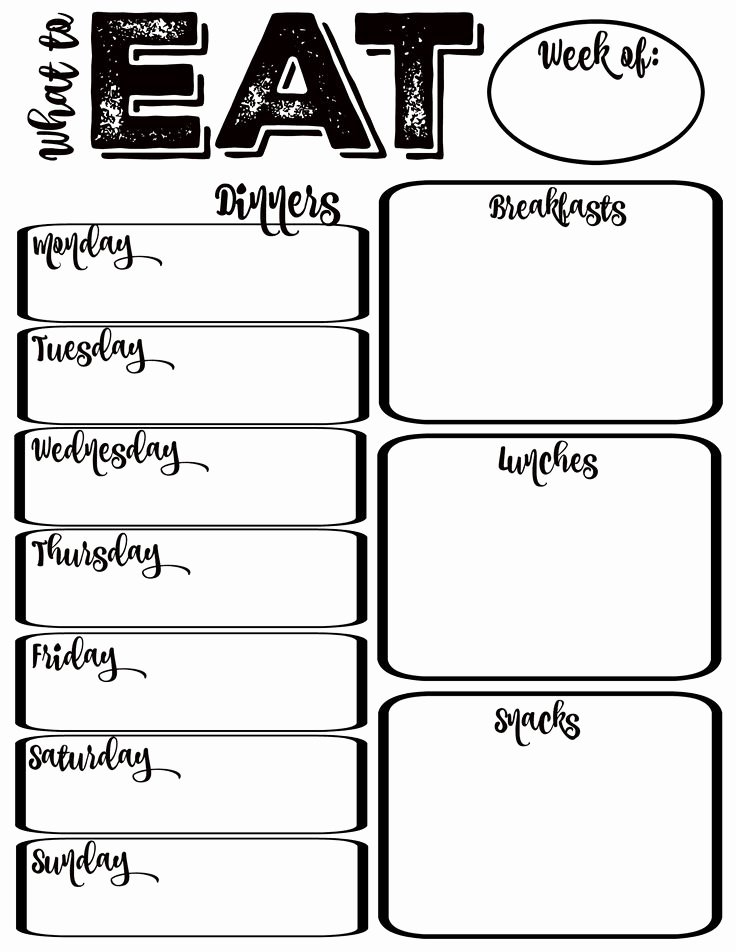 Meal Plan Chart Template Awesome Best 25 Weekly Meal Planner Ideas On Pinterest