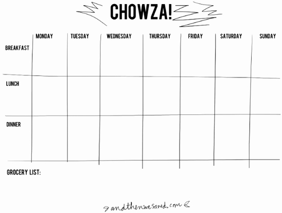 Meal Plan Chart Template Awesome Let S Plan some Meals A whole Slew Of Meal Planning
