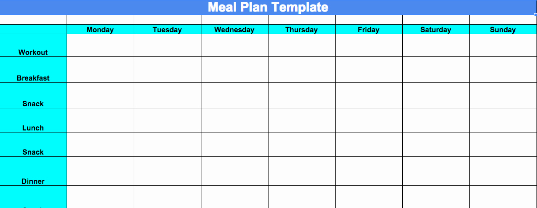 Meal Plan Chart Template Beautiful Week 4 Progress Update and Chalean Extreme Meal Plan