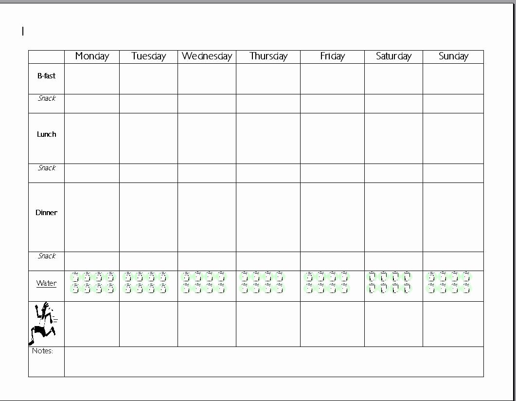 Meal Plan Chart Template Best Of Pin by Gail Woodman On Fit F Life