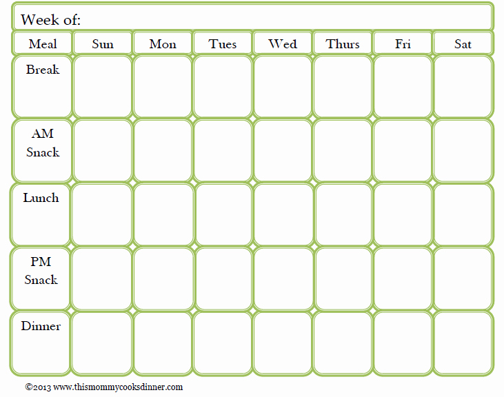 Meal Plan Chart Template Fresh Meal Plan Template Beepmunk