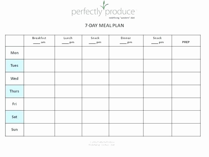Meal Plan Chart Template Luxury Printable Weekly Food Chart Free Meal Planning Prep Free