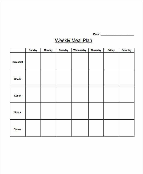 Meal Plan Chart Template Unique Diet Charts Design Templates