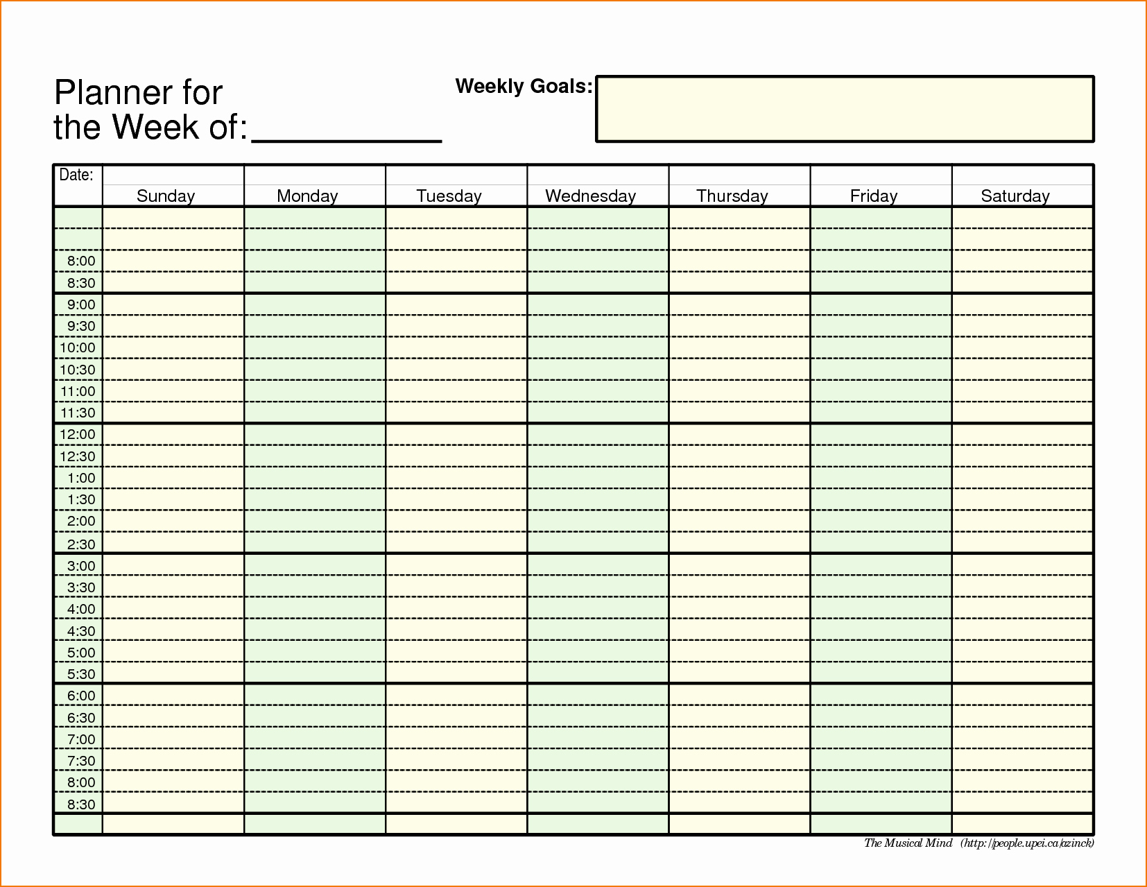Meal Plan Excel Template Elegant 5 Weekly Planner Template Excel