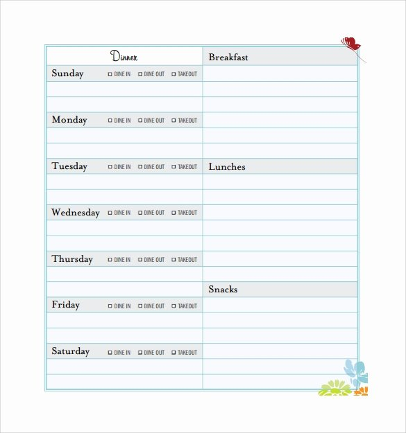 Meal Plan Excel Template Elegant Meal Planning Template 17 Download Free Documents In Pdf