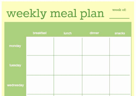 Meal Plan Excel Template Inspirational 18 Free Plan Templates Excel Pdf formats