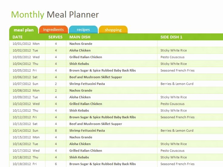 Meal Plan Spreadsheet Template Elegant Best 25 Meal Planning Templates Ideas On Pinterest