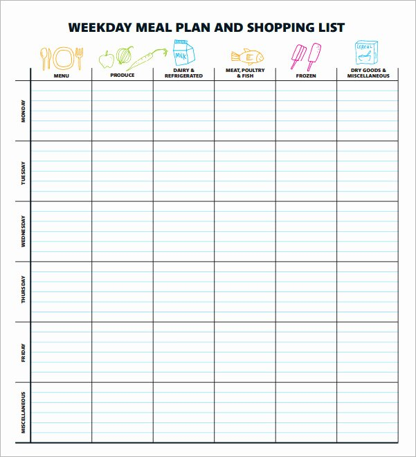 Meal Plan Spreadsheet Template New 18 Meal Planning Templates Pdf Excel Word