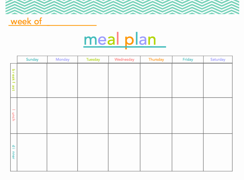 Meal Plan Spreadsheet Template New Free Meal Plan Printable Makes Meal Planning A Little