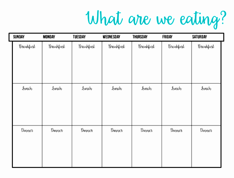 Meal Plan Template Excel Awesome Printable Meal Plan Template Excel Word