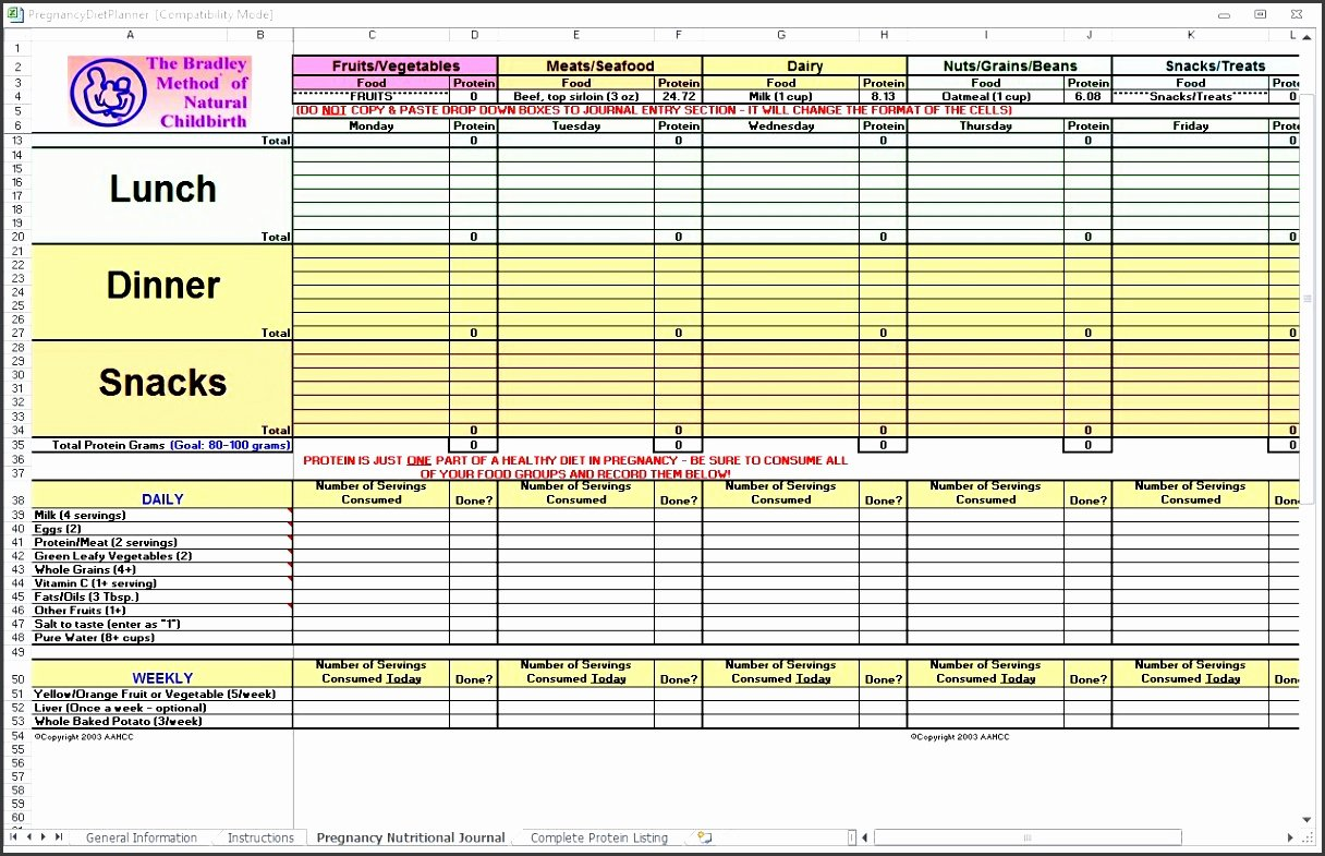 Meal Plan Template Excel Best Of 10 Monthly Meal Planner In Excel Sampletemplatess
