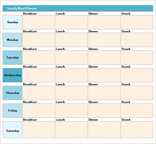 Meal Plan Template Excel Elegant Meal Planning Template 17 Download Free Documents In Pdf