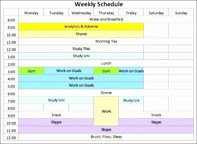 Meal Plan Template Excel Inspirational Excel Meal Planner Printable Plan Template Planning with