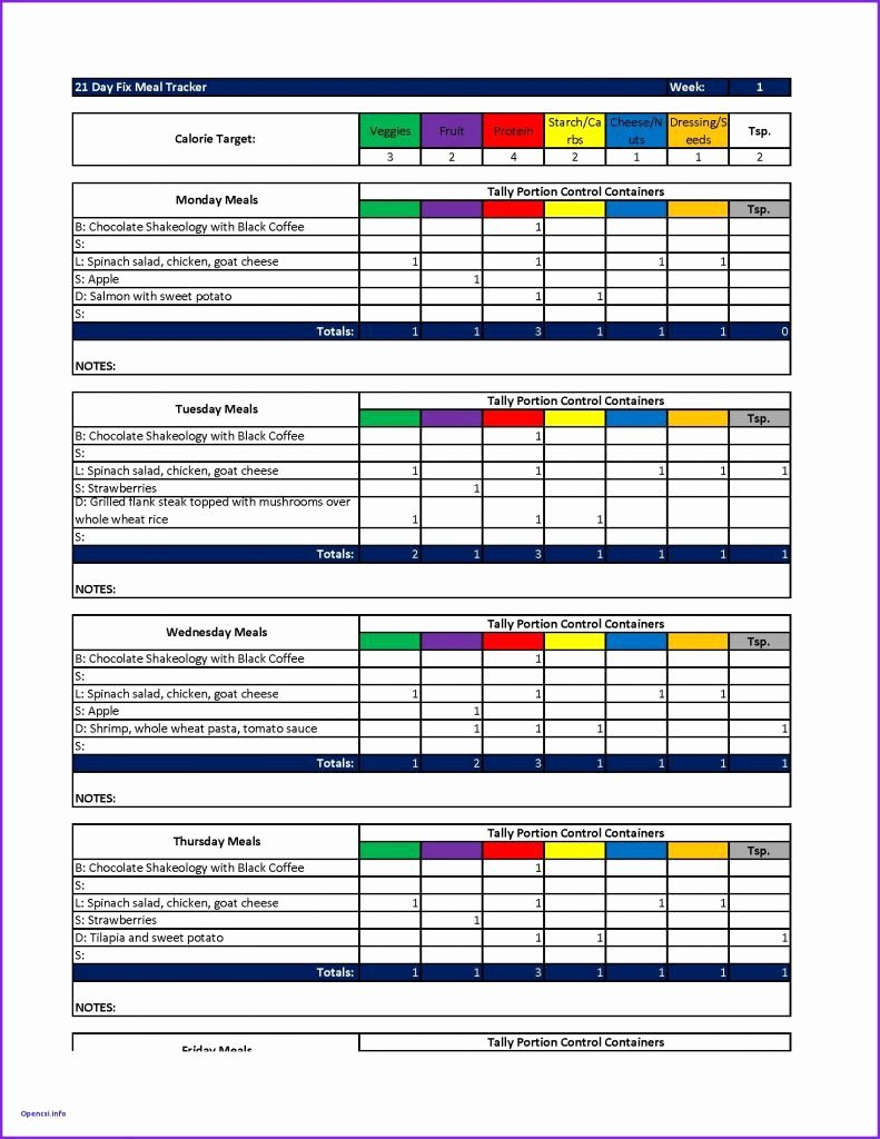 Meal Plan Template Excel Inspirational Meal Plan Template Excel Resume 21 Day Fix Sheets