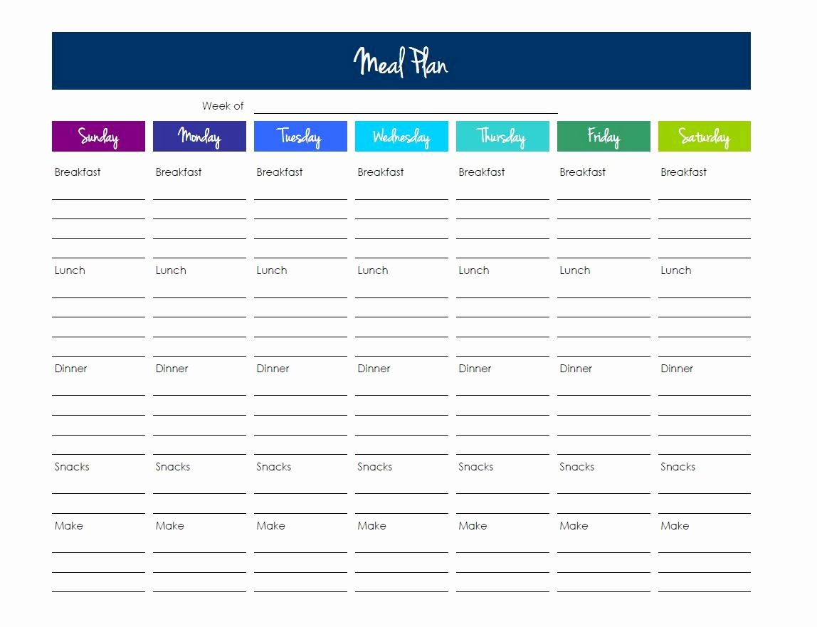Meal Plan Template Excel Lovely Grocery List Template Excel