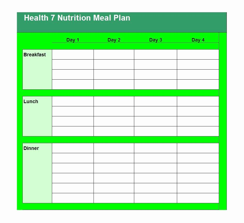 Meal Plan Template Free Best Of 40 Weekly Meal Planning Templates Template Lab