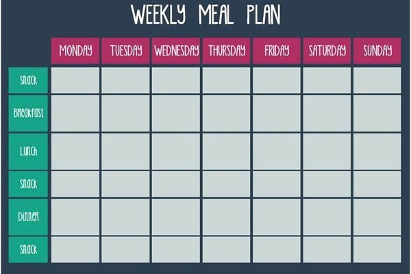 Meal Plan Template Free New Meal Plan Templates Free Download