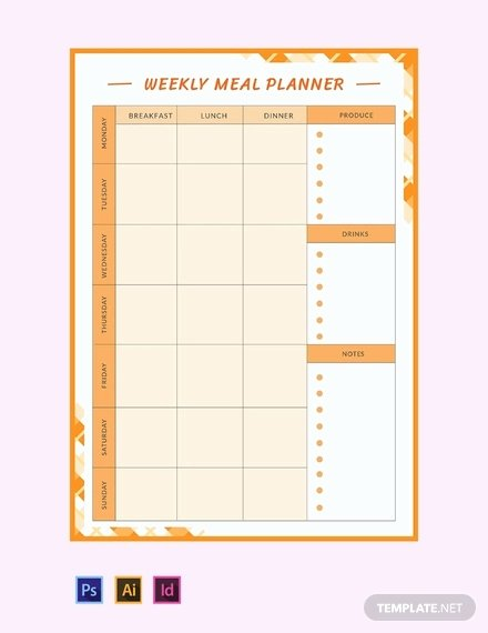 Meal Plan Template Google Docs Awesome 13 Monthly Bud Planner Templates Ai Psd Google