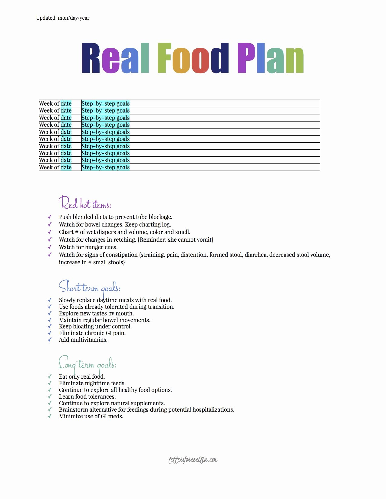 Meal Plan Template Google Docs Beautiful Printable's