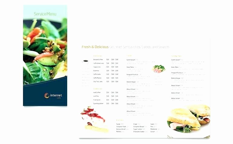 Meal Plan Template Google Docs Elegant Make Your Own Menu Template – First to
