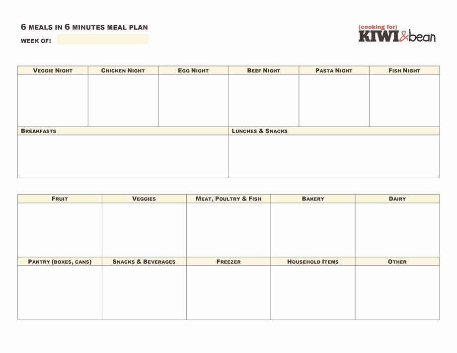 Meal Plan Template Google Docs Fresh Meal Planner Template Google Docs