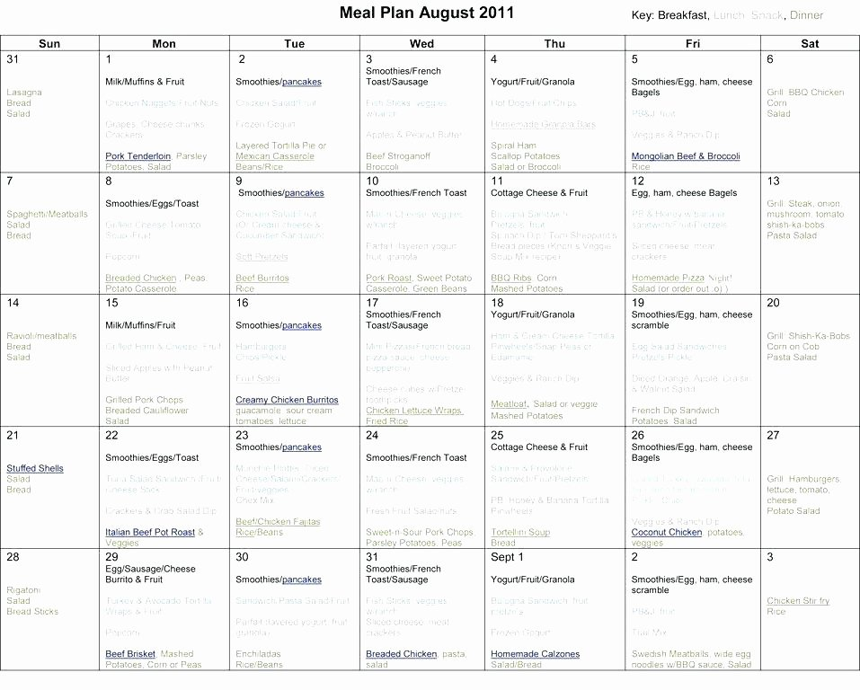 Meal Plan Template Google Docs Luxury Monthly Meal Planning Template – Antalyacatifo