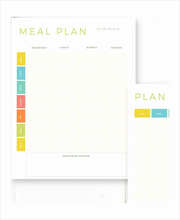 Meal Plan Template Pdf Awesome Weekly Meal Planner 10 Free Pdf Psd Documents Download