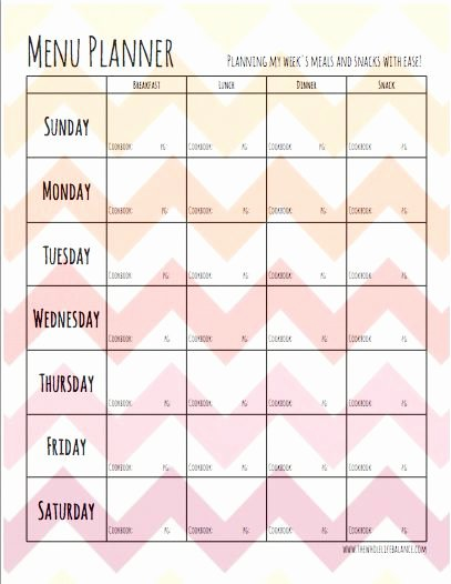Meal Plan Template Pdf Fresh Best 25 Meal Planning Templates Ideas On Pinterest