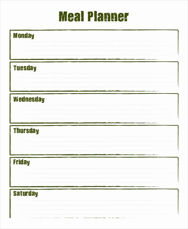 Meal Plan Template Pdf Inspirational Weekly Meal Planner 10 Free Pdf Psd Documents Download