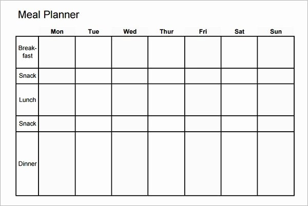 Meal Plan Template Pdf Luxury Meal Plan Template