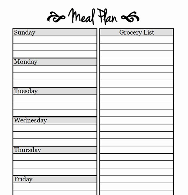 Meal Plan Template Printable Awesome Printable Meal Planning Templates to Simplify Your Life