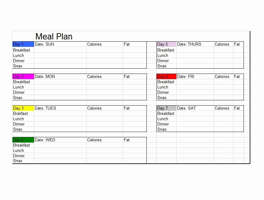 Meal Plan Template Printable Lovely 40 Weekly Meal Planning Templates Template Lab