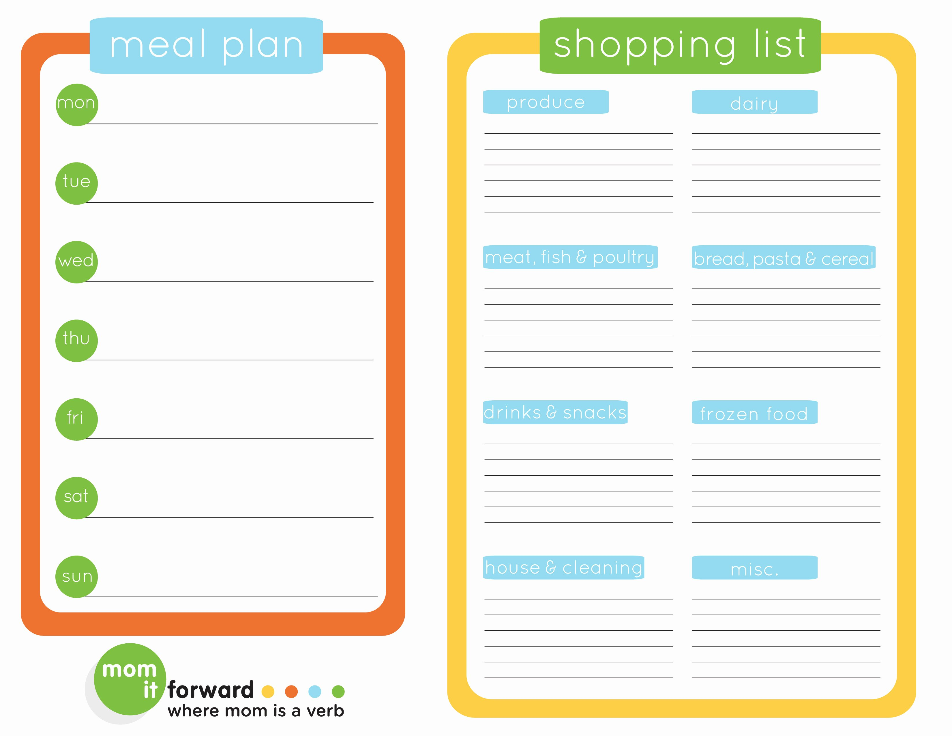 Meal Plan Template Printable New the Ultimate List Of Free Meal Planner Printables