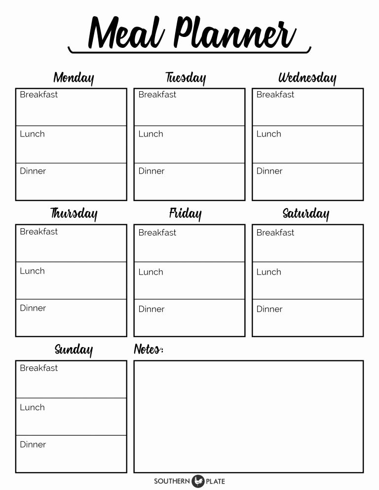 Meal Plan Template Printable Unique Pin by Nita Menezes On Menu Planner