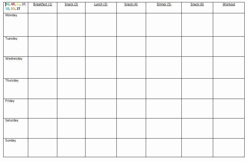 Meal Plan Template Word Beautiful How I Prep for the Week