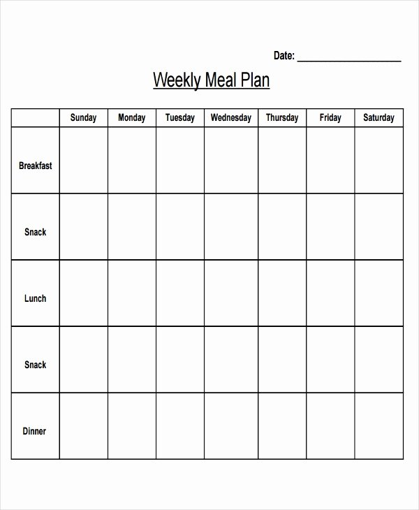 Meal Plan Template Word Inspirational 10 Planning Calendar Template 10 Free Word Pdf format