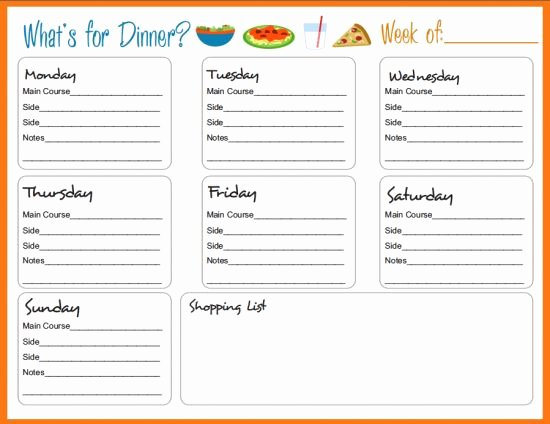 Meal Plan Weekly Template New Best 25 Meal Planning Templates Ideas On Pinterest